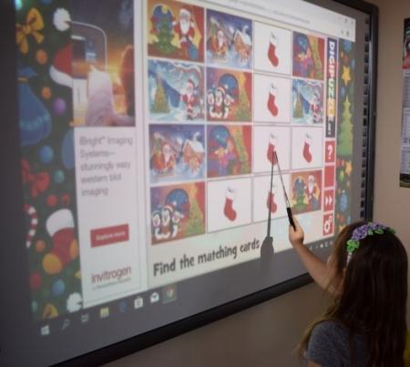 Święta i tablica interaktywna.
